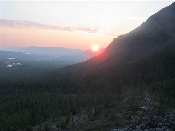 Заход солнца в горах Дынкенгда