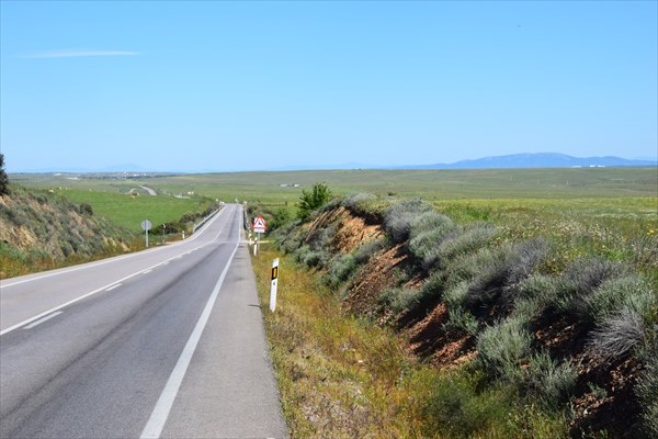 Дорога уходящая за горизинт