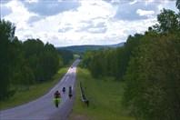 Асфальтовый участок дороги на финише
