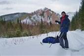 Артём на фоне горы `Паук`