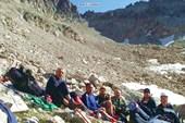 Группа перед штурмом перевала Узловой