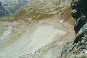 Путь по марене в долину Даут